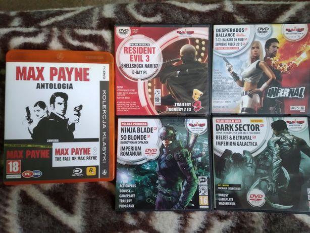 Max Payne, Ninja Blade, Devil May Cry 4, Titan Quest, Resident evil 5