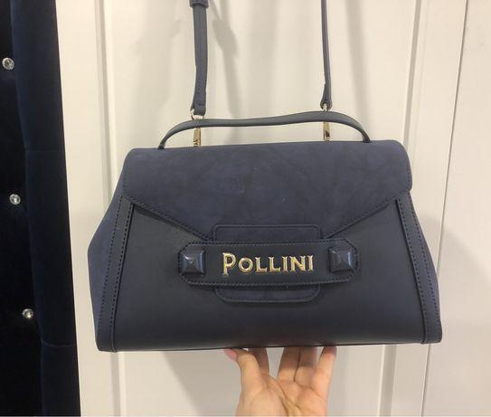 Torebka Pollini granatowa nowa