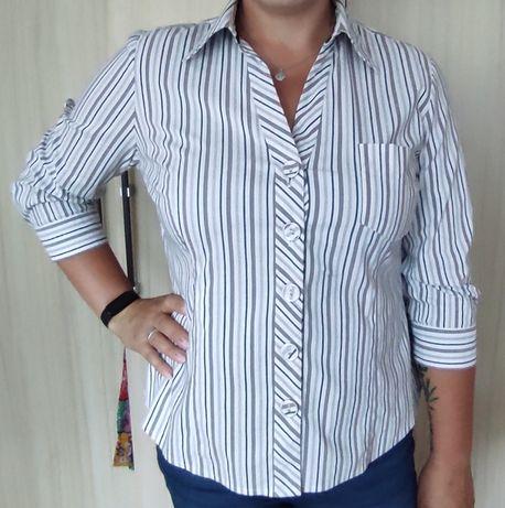 elegancka koszula w paseczki, r. 46