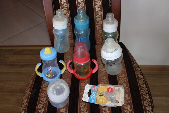 Zestaw butelek i kubków dla niemowlaka Dr Browns + nowe nakładki