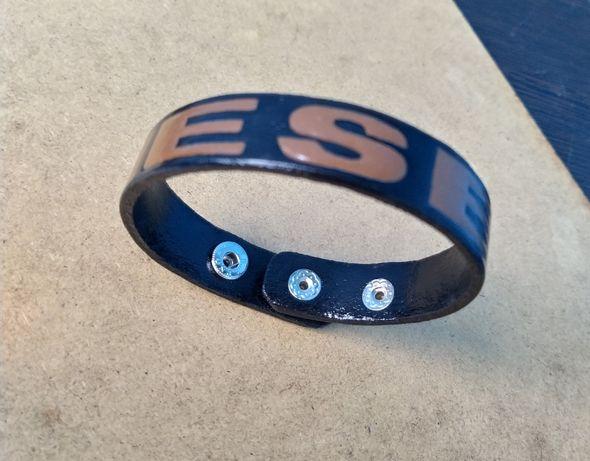 Идеальный подарок со смыслом Кожаный браслет ручной работы