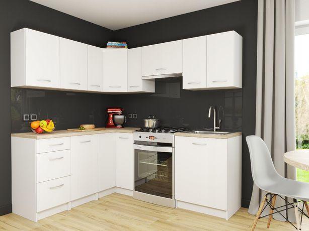 Zestaw mebli kuchennych Marsylia Białe Narożne WYSYŁKA GRATIS