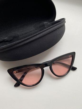 Солнцезащитные очки кошачья оправа