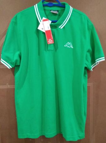 Koszulka Polo męskie KAPPA, zielone roz. XL