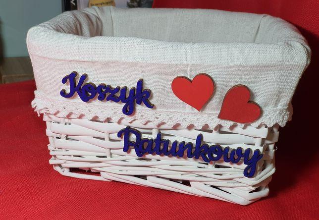Koszyk ratunkowy wesele, kolor napisów dowolny