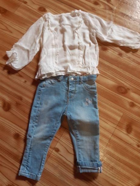 Komplety ubrań dla dziewczynki 80 cm