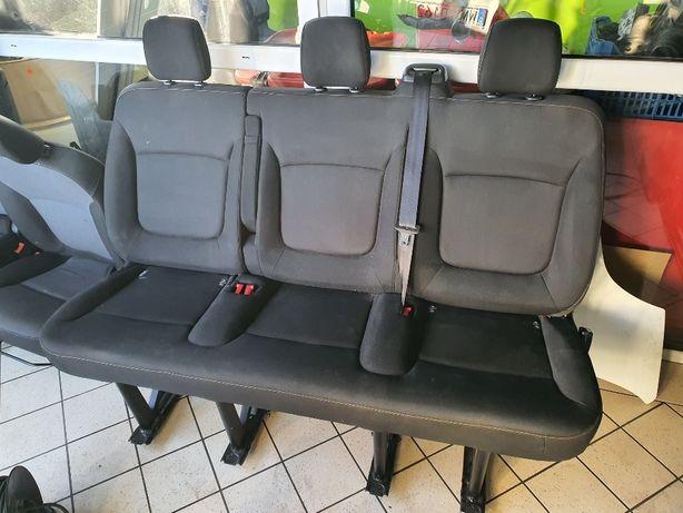 Fotele kanapa Renault Trafic III Opel Vivaro B 2 3 rząd