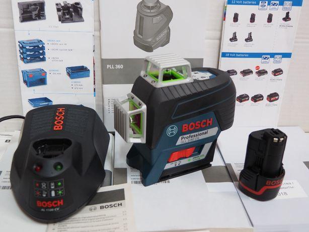 BOSCH GLL 3-80 CG laser krzyżowy plaszczyznowy bateria ladowarka Nowy