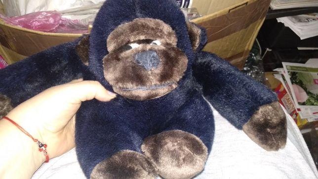 крутая мягкая игрушка обезьяна качественная горилла черная качество!