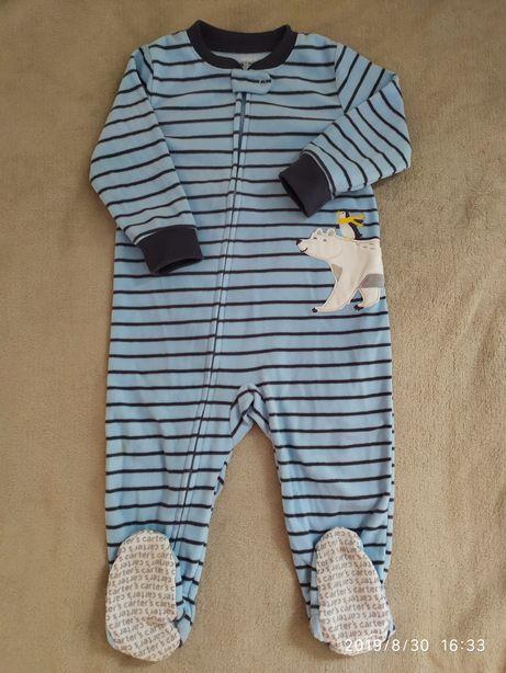 Carters пижамка человечек флис