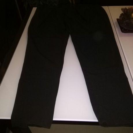 Eleganckie spodnie ciążowe brązowe L niezniszczone