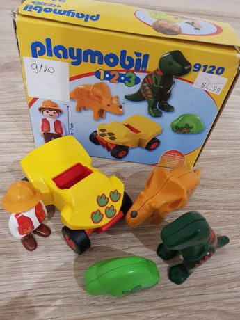 Playmobil 9120 dinozaury jeep zestaw dla maluszka
