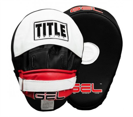 Лапи Title Gel World Contoured Punch Mitts Black/Red/White