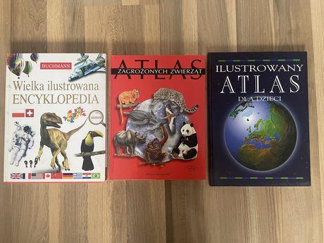 Atlas zwierząt, encyklopedia dla dzieci zestaw