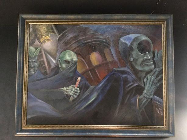 Картина с рамой, масло, холст 60*80, подарок