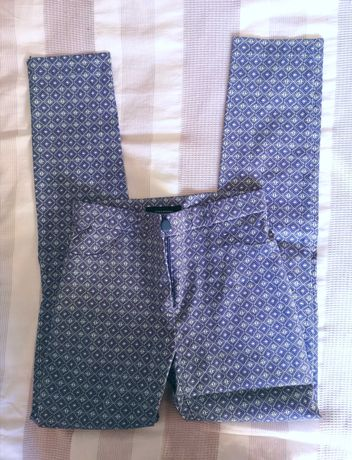 3 calças justas com padrão Primark, tamanho 34