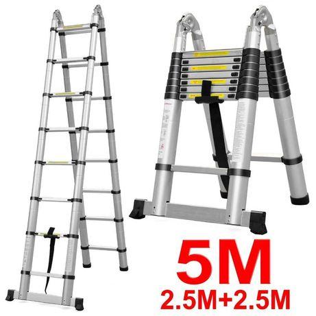 Escada telescópica extensível 5m - Novas!.