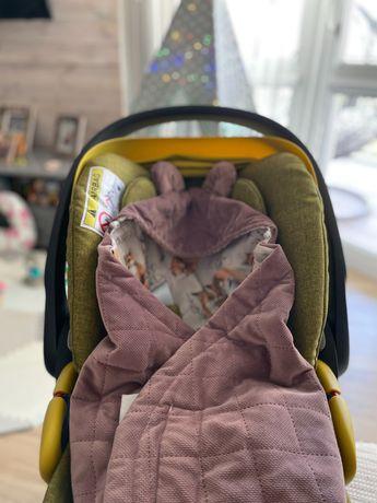 Kocyk do fotelika Baby Steps - dobre liski Wrzos babysteps