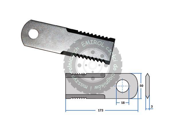Nóż sieczkarni ząbkowany ruchomy Claas Mega Dominator Medion 065294