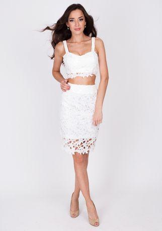 Ажурная нарядная белая юбка Love republic