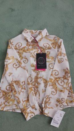 Блузка Young Versace, 116 см, 100% оригинал. 100% шелк