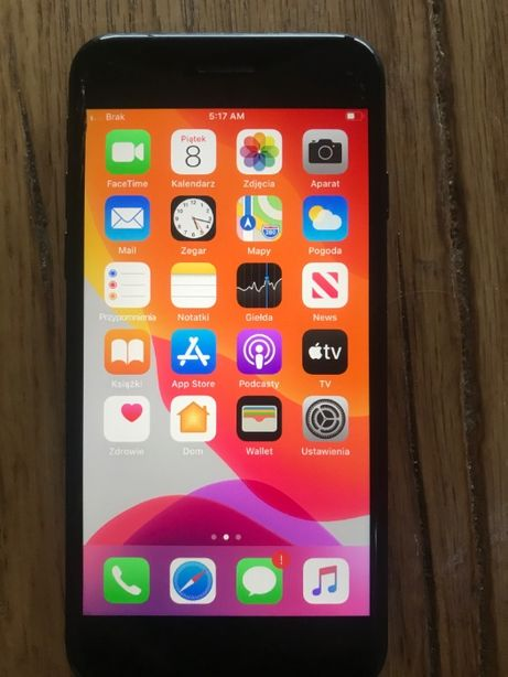 Apple iPhone 7 Black ! 128 GB ! lekko pęknięty dotyk !