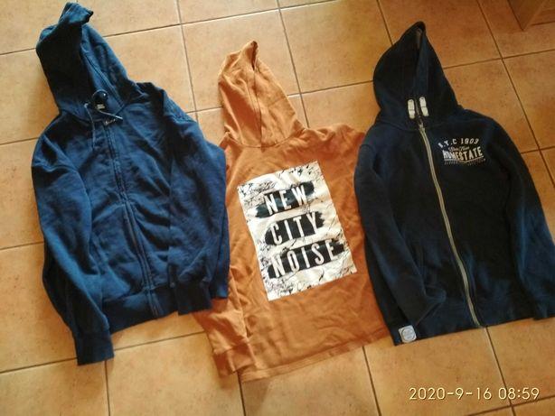 Bluzy chłopięce H&M 158, Reserved S, Skate Nation 158, stan bdb