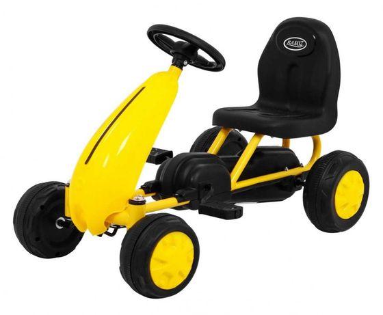 MAŁY Gokart dla Najmłodszych dzieci Żółty