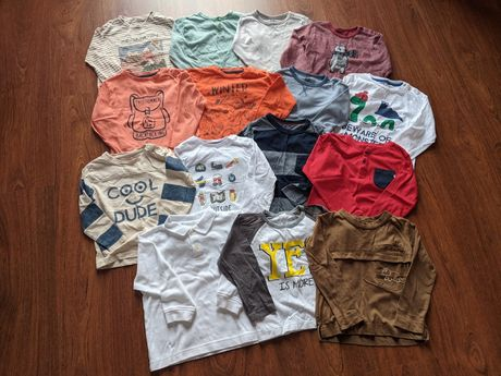 Lote 15 camisolas menino 18/24 meses