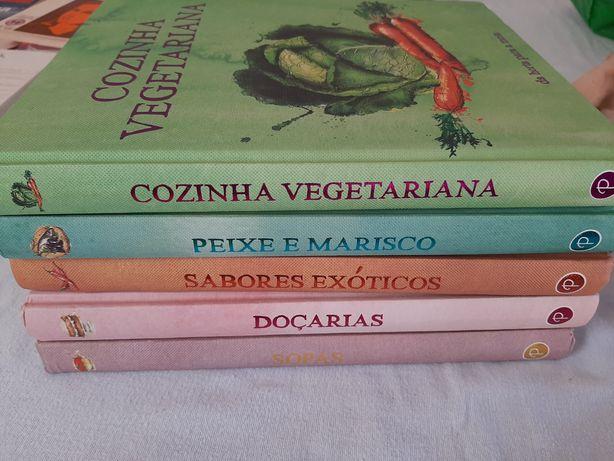 Vários livros de culinária