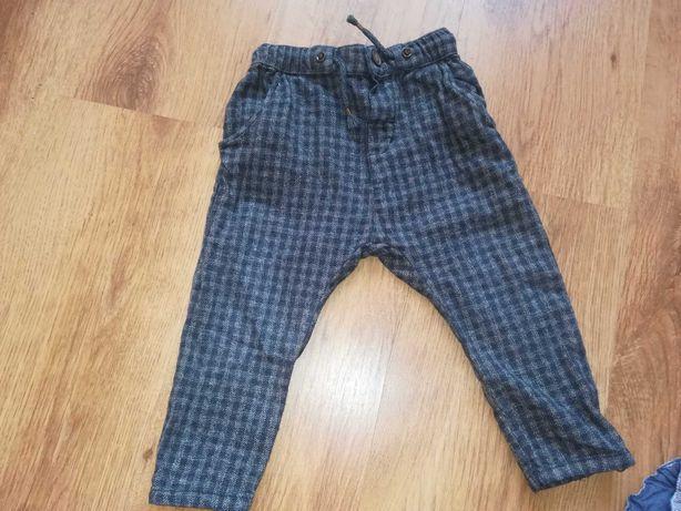Spodnie w kratkę h&m 68/74