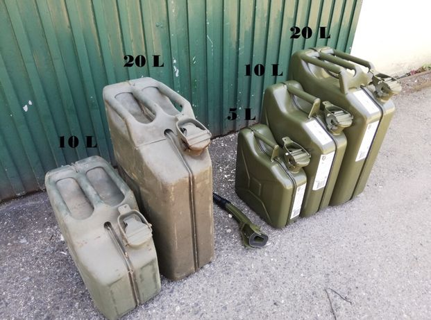 Jerrican origináis militares