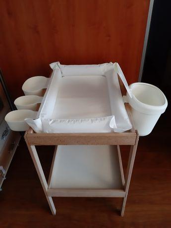 Przewijak SINIGLAR z IKEA + pojemniki + podkładka