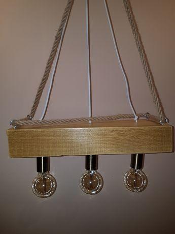 Lampa wisząca drewniana. (Styl rustykalny)