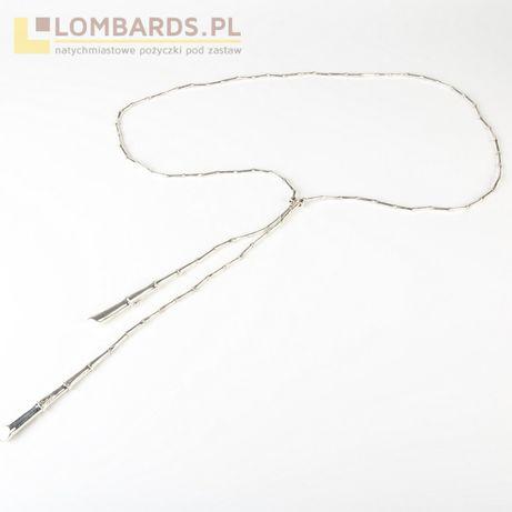 srebrny łańcuszek p. 925 70cm segmentowy