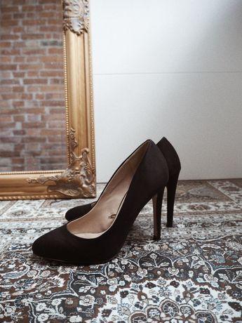 Klasyczne czarne szpilki Zara Basic rozmiar 36