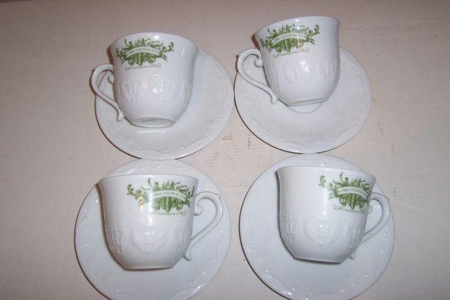 Kubki porcelanowe z podstawkami HENDRIC'S Gin kpl. 4 szt