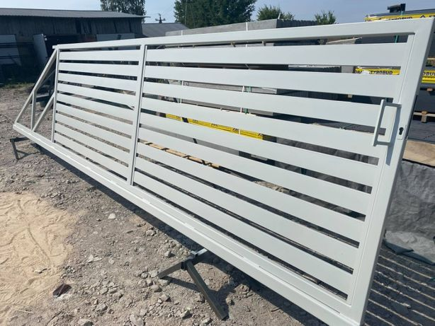Brama przesuwna 5 m palisada pozioma 80x20 lub 100 x20 komplet