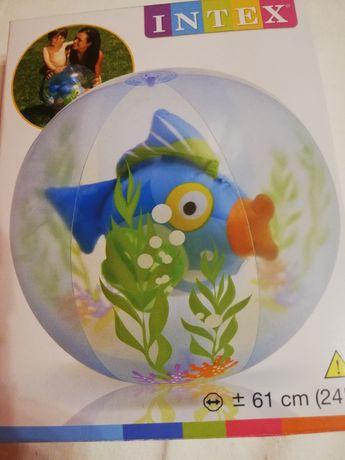 Piłka plażowa z rybka nadmuchiwana