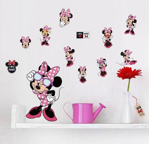 Naklejki na ścianę Myszka Minnie WS-0322
