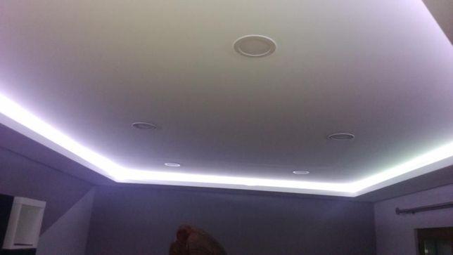 Fita LED 3528. Branco quente ou frio. 5 metros KIT completo