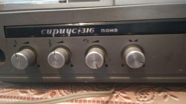 Продам проигрыватель Сириус 316 Панно  с радиоприемником