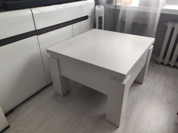 Stolik rozkładany ławostół stół rozkładany biały