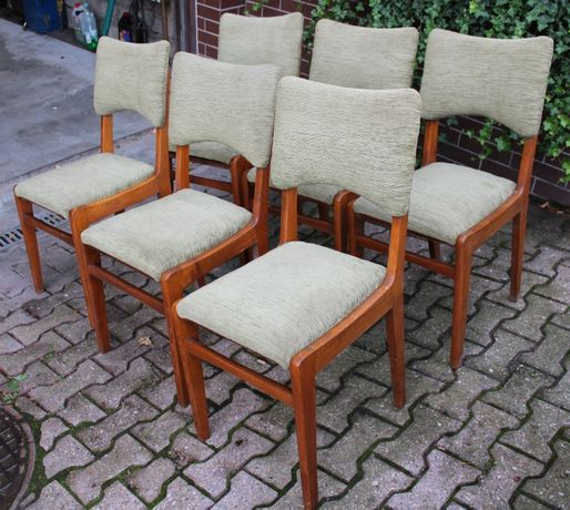 Krzesła krzesło tapicerowane drewniane zestaw 6 szt