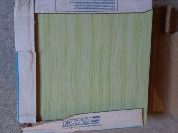 Nowa płytka gres szkliwiony podłogowy Fala Verde 3,33x3,33 2,55m2 wys