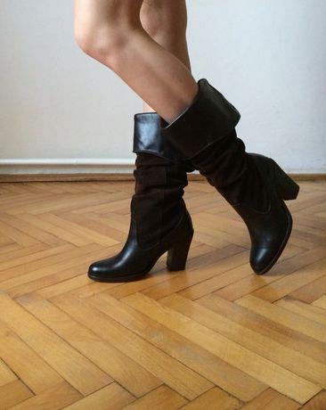 Кожаные ботинки, ботильоны, с италии russel&bromley