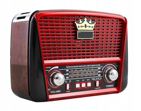 RADIO RETRO SOLARNE akumulatorowe USB GŁOŚNIK retro styl