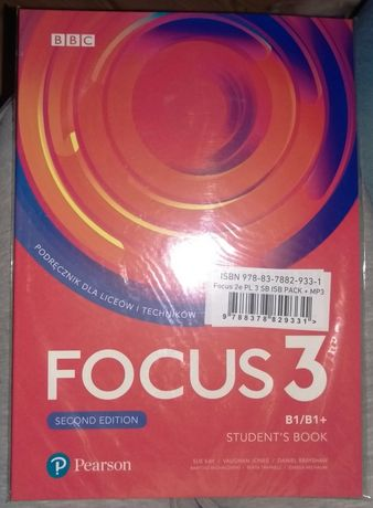 Focus 3. Second edition. Student's book. Wyd. Pearson NOWA