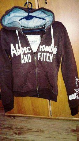Bluza z kapturem Abercrombie & Fitch rozmiar s brąz