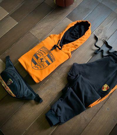 Теплые мужские спортивные костюмы PORSCHE. Худи + Штаны + Бананка